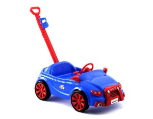 Carro Toy Kids 2 Em 1 Azul C/ Suporte e Puxador 909 Paramount