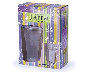 Conjunto 1 Jarra Country C/ 4 Copos REF 704 Agraplast
