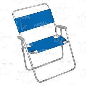 Cadeira Infantil P/ Praia Em Alumínio AZUL JLV