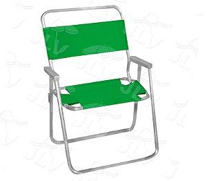 Cadeira Alta de Praia, Piscina Aluminio VERDE JLV