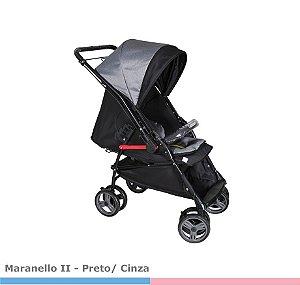 Carrinho de Bebê Maranello PRETO/CINZA 1381PRC Galzerano