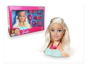 Boneca Barbie Busto Styling Hair C/ Acessórios Pupee