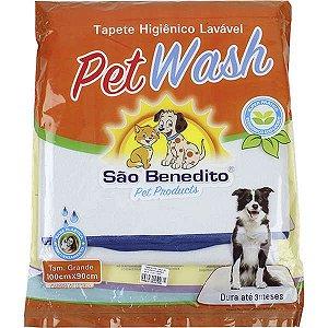 Tapete Higiênico Lavável Pet Wash 100X90cm - Tamanho G 18858 My Pet
