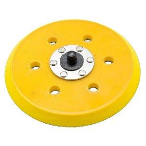 Disco Suporte 120mm 5 Pol. Lixadeira Orbital Hookit - Prato 6 Furos Rotta