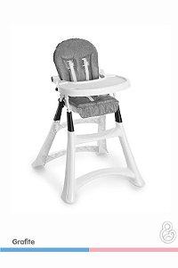 Cadeira Alta Premium Grafite Grande 5070 Galzerano