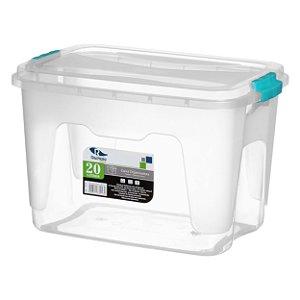 Caixa Organizadora 20 Litros  Transparente Rischioto 0123