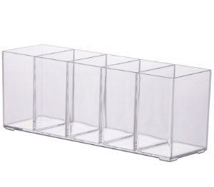 Organizador Multiuso c/ 5 Divisórias 30x9x11 cm Paramount
