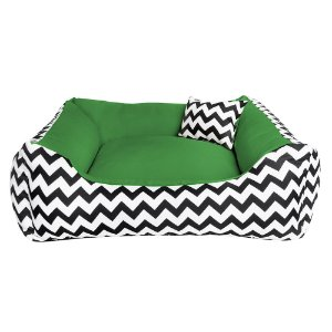 Cama de cachorro 60 x 60 Chevron Verde