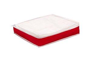 Organizador De  Lençol Nylon Vermelho tampa Cristal 935 VB HOME