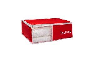 Organizador de toalha Em Nylon Vermelho 904 VB HOME