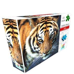 Brinquedo Educativo Quebra Cabeça TIGRE 100 pçs 2165 Big Boy
