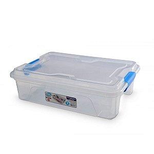 Caixa Organizadora Translucida 10 Litros C/ Travas Usual