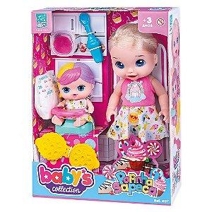 Boneca Infantil Hora da Papinha Super Toys 407