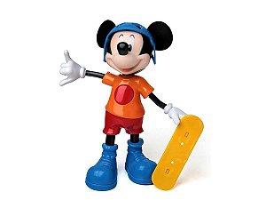 Boneco Infantil Mickey Mouse Radical Com Skate Elka