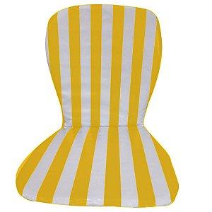 Almofada Cadeira De Praia e Plásticas Impermeável Listrada Amarela