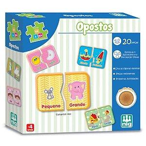 Brinquedo Infantil Opostos 20 Peças Eu Brinco e Aprendo Nig