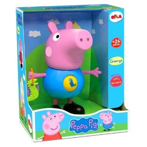 Boneco Brinquedo Infantil Peppa Pig George com Atividades