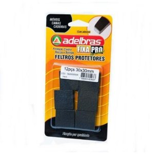 Adesivos Protetores Feltro Prático Quadrado 30x30mm Adelbras