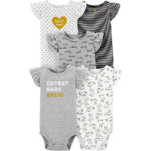 Body Carter's com 5 peças, mangas flutuantes menina (tam.18-24 meses)