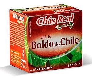 CHÁ DE BOLDO DO CHILE 10 SACHÊS - REAL MULTIERVAS