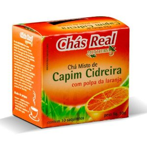 CHÁ DE CAPIM CIDREIRA COM LARANJA 10 SACHÊS - REAL MULTIERVAS