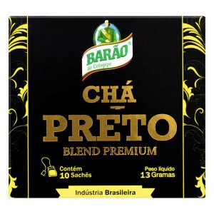 CHÁ PRETO BLEND PREMIUM 10 SACHÊS - BARÃO