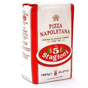 FARINHA DE TRIGO ITALIANA 00 PIZZA NAPOLETANA 1KG - LE 5 STAGIONI