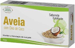 SABONETE NATURAL ANTISSÉPTICO DE AVEIA COM ÓLEO DE COCO 90G - LIANDA NATURAL