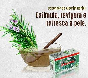 SABONETE NATURAL GLICERINADO DE ALECRIM 90G - GENIAL