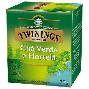 CHÁ VERDE COM HORTELÃ 10 SACHÊS 20G - TWININGS