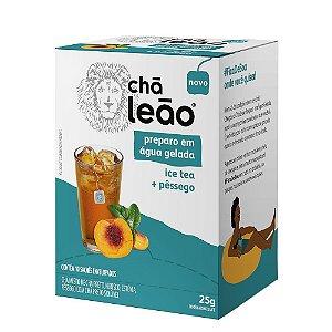 CHÁ LEÃO ÁGUA GELADA ICE TEA E PÊSSEGO 10 SACHÊS - LEÃO