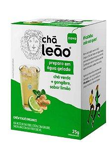 CHÁ LEÃO ÁGUA GELADA CHÁ VERDE GENGIBRE E LIMÃO 10 SACHÊS - LEÃO