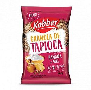 GRANOLA DE TAPIOCA BANANA CANELA E MEL 600G - KOBBER
