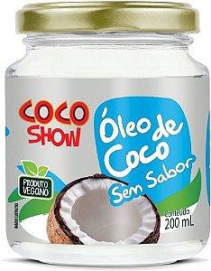 ÓLEO DE COCO SEM SABOR 200ML - COCO SHOW