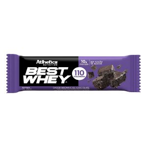 BARRINHA BEST WHEY BROWNIE 32G - ATLHETICA NUTRITION