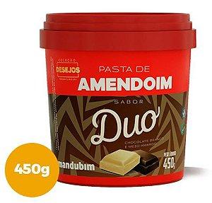 PASTA DE AMENDOIM COM CHOCOLATE DUO 450G - MANDUBIM
