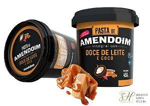 PASTA DE AMENDOIM DOCE DE LEITE E COCO 450G - MANDUBIM