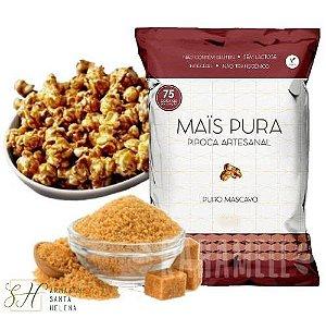 PIPOCA ARTESANAL PURO MASCAVO 75G - MAIS PURA