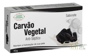 SABONETE NATURAL ANTISSÉPTICO DE CARVÃO VEGETAL  90G - LIANDA NATURAL