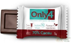 CHOCOLATE 70% DE PURO CACAU 5G - ONLY4