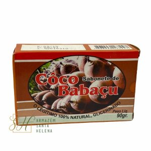 SABONETE NATURAL GLICERINADO DE COCO BABAÇU 90G - GENIAL