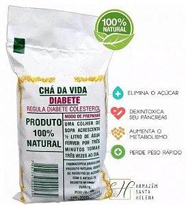 CHÁ DA VIDA DIABETE 100% NATURAL PACOTE 40G