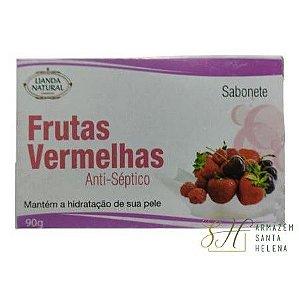 SABONETE NATURAL ANTISSÉPTICO DE FRUTAS VERMELHAS 90G - LIANDA NATURAL