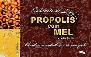 SABONETE NATURAL ANTISSÉPTICO DE PRÓPOLIS COM MEL 90G - BIONATURE