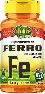 FERRO QUELATO 60 CÁPSULAS - UNILIFE