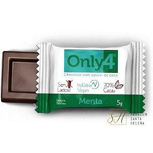 CHOCOLATE MENTA 70% DE CACAU 5G - ONLY4