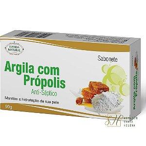SABONETE NATURAL ANTISSÉPTICO DE ARGILA COM PRÓPOLIS 90G - LIANDA NATURAL
