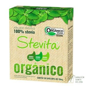 ADOÇANTE ORGÂNICO 100% STEVIA 50 SACHÊS - STEVITA