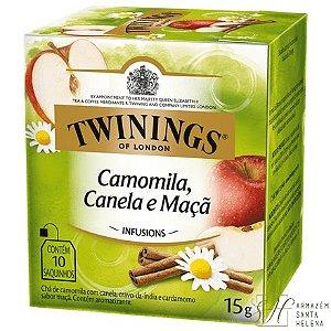 CHÁ CAMOMILA, CANELA E MAÇÃ 10 SAQUINHOS 15G - TWININGS