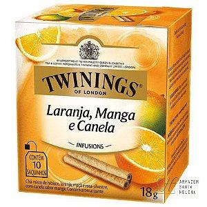 CHÁ LARANJA, MANGA E CANELA 10 SAQUINHOS 18G - TWININGS